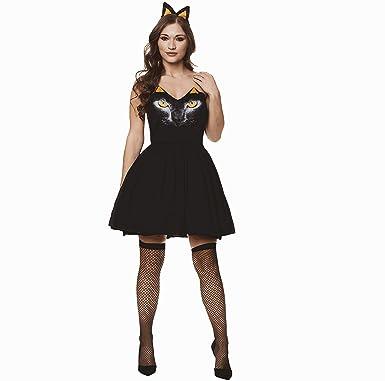 Amazon Black Witch Costume Set Halloween Womens Cute Fantasy
