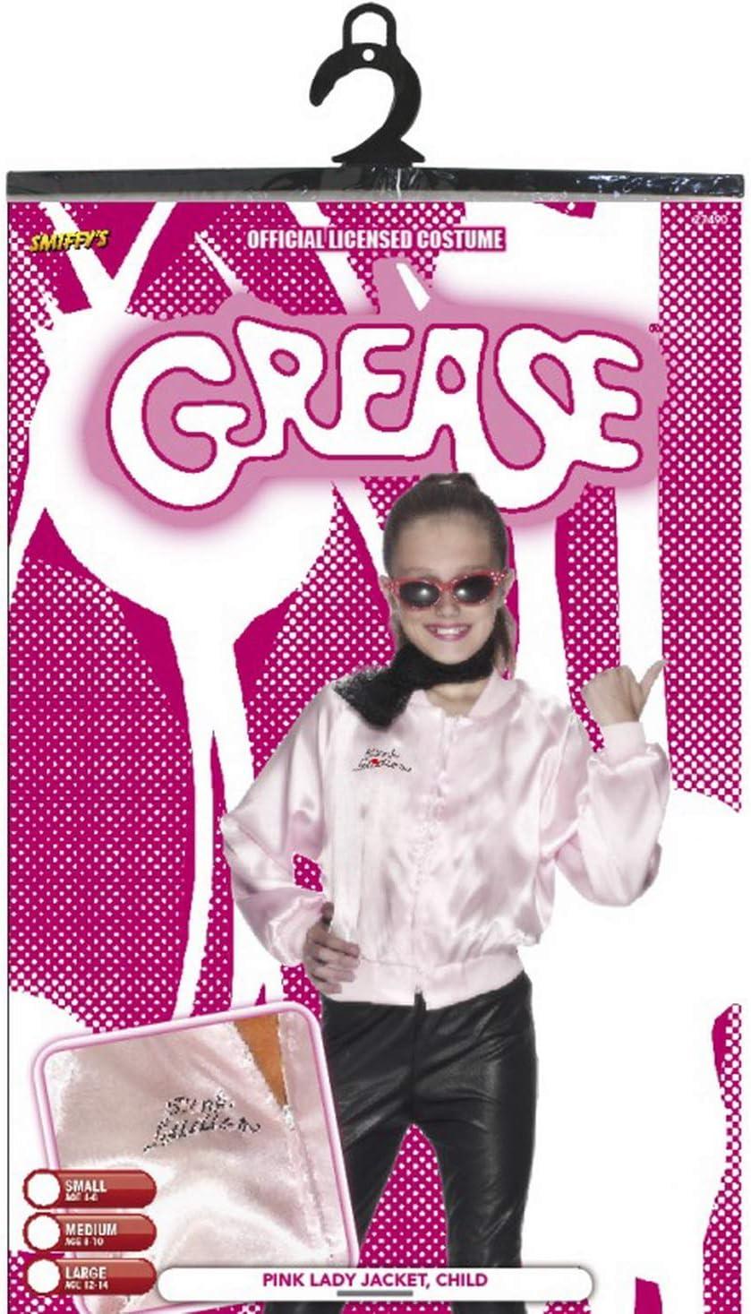 Faschingsfete – Chaqueta para niña Grease Pink Ladies Disfraz ...
