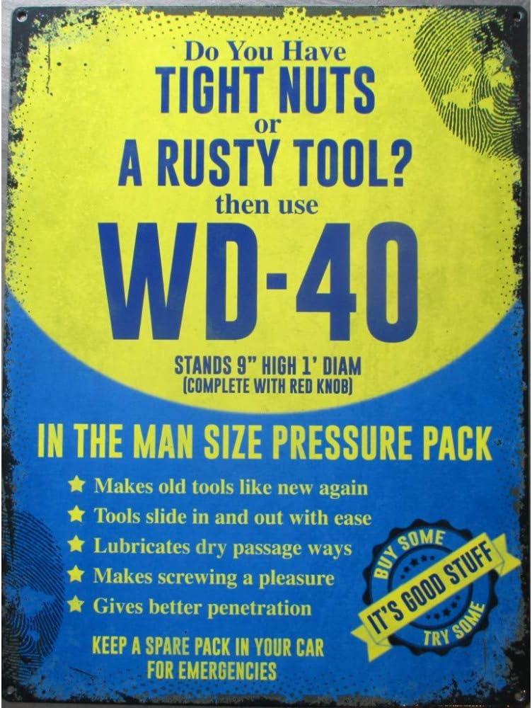 hotrodspirit Wd40 Wd-40 - Placa de Metal (40 x 30 cm): Amazon.es: Hogar