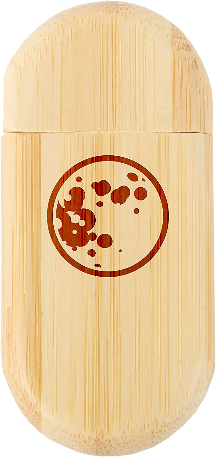 Moon 8Gb Bamboo USB Flash Drive with Rounded Corners Wood Flash Drive with Laser Engraving 8Gb USB Gift for All Occasions