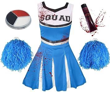 Ilovefancydress Zombie Cheerleader Kostum Verkleidung 5