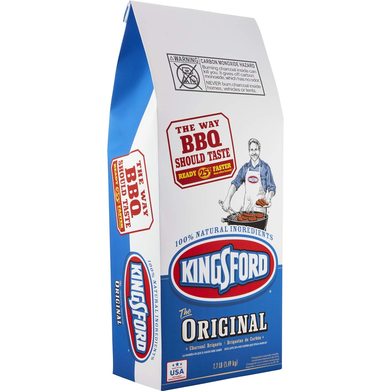 Kingsford Original Charcoal Briquettes, 7.7 Pound Bag (Pack of 2) (Packaging May Vary) by Kingsford