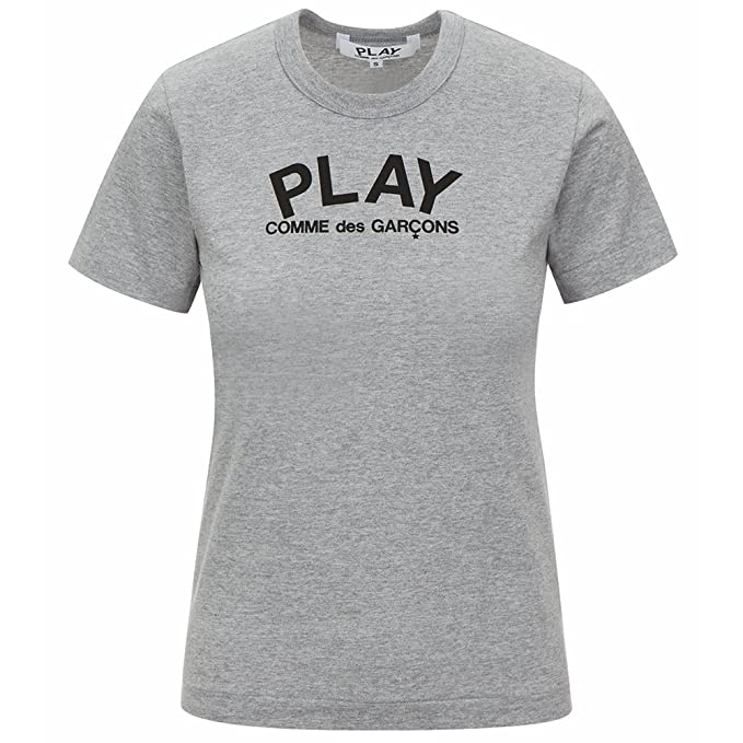 d652e575df7d Comme des Garcons Play Women s Play Logo   Heart Print T-Shirt P1T071 Grey (