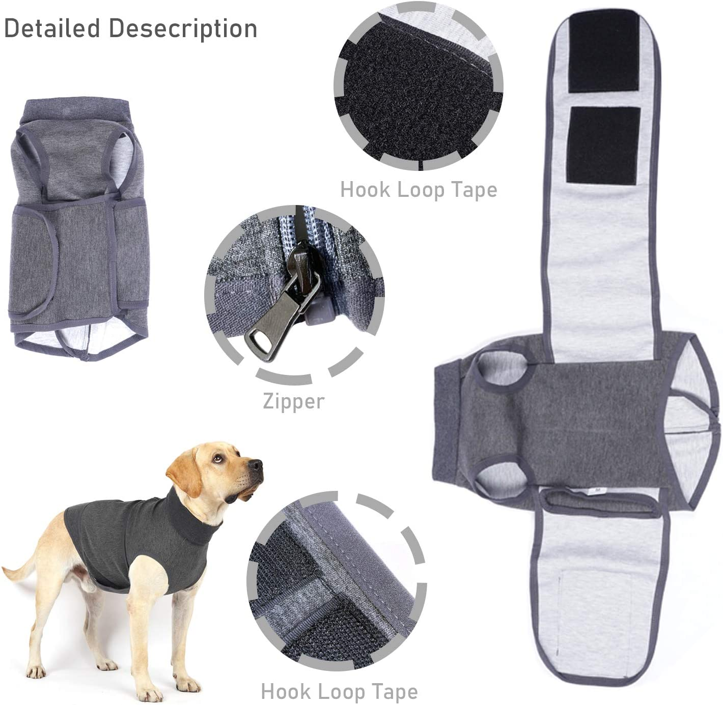 S Dog Anxiety Jacket Calming Coat Adjustable Wrap for Anxiety Stress Relief Lightweight Vest Used to Treat Scared Caused by Thunder and Lightning and Fireworks in time to Maintain Calm and Comfort