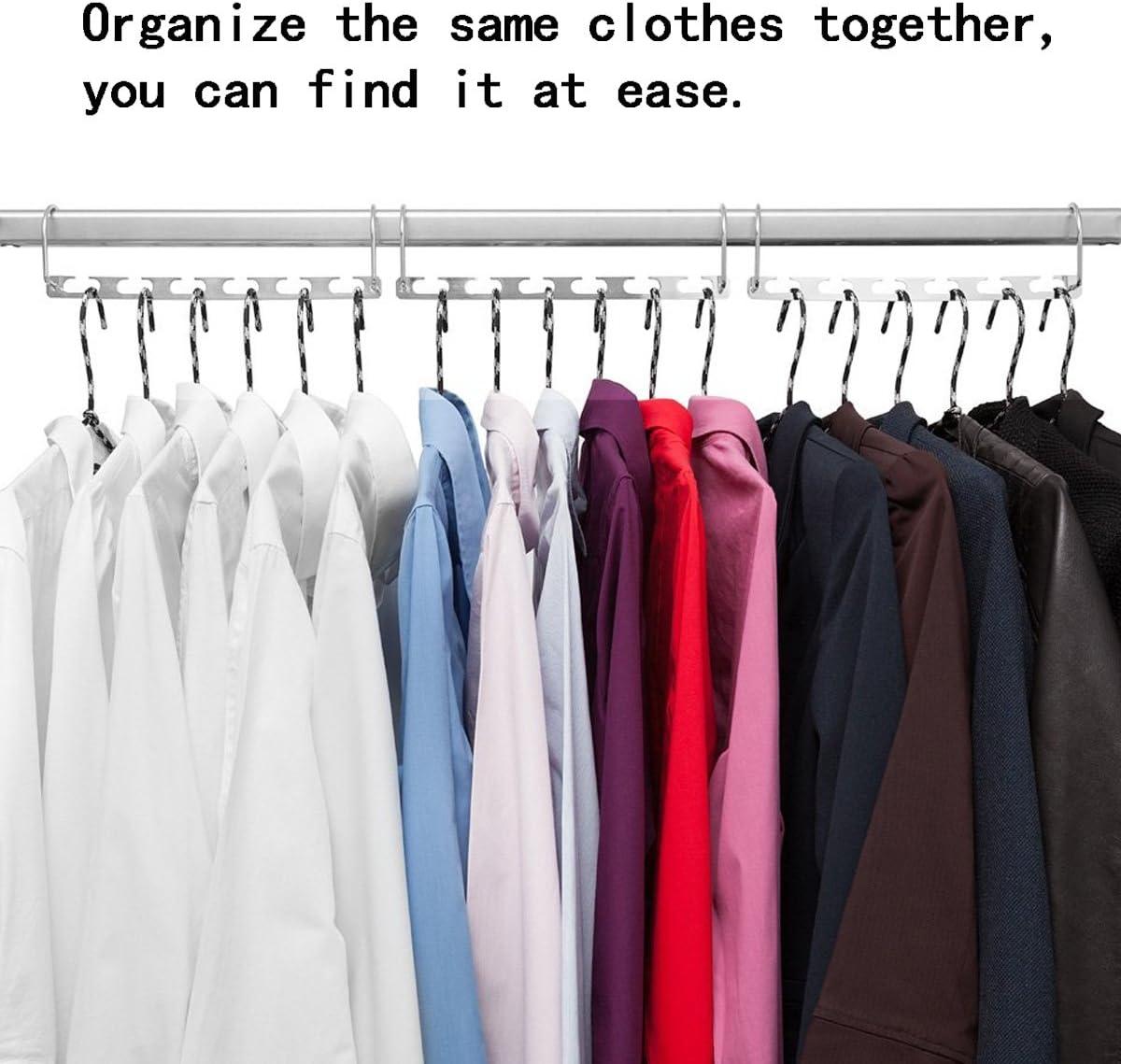 2pcs Metal Cascading Wonder Hangers Space Saver Closet Organizer Clothes Rack
