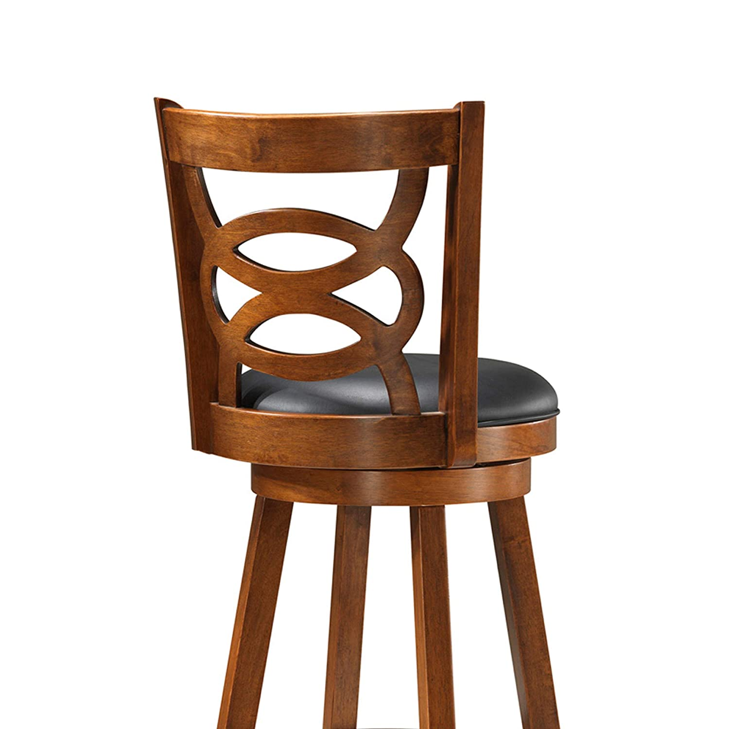 Monarch Specialties I Solid Wood High Swivel Counter Stool, Oak, 39 ,
