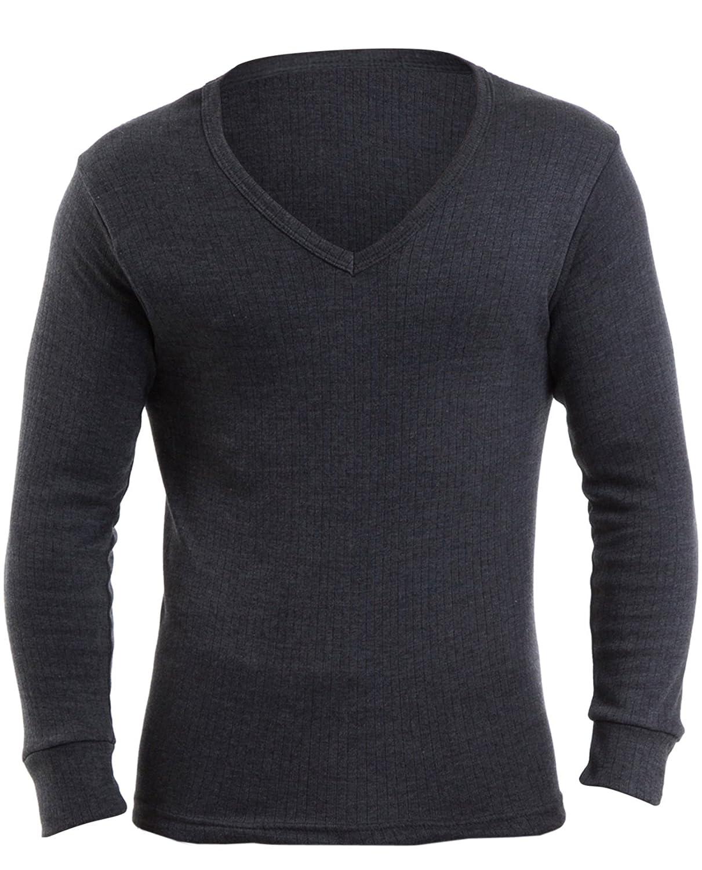 3 Pack Of Mens Thermal Underwear V Neck Short Sleeve Vest Denim, Various Sizes