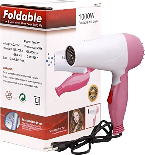 Naivete Professional Folding Hair Dryer   1000 W   Multi Color