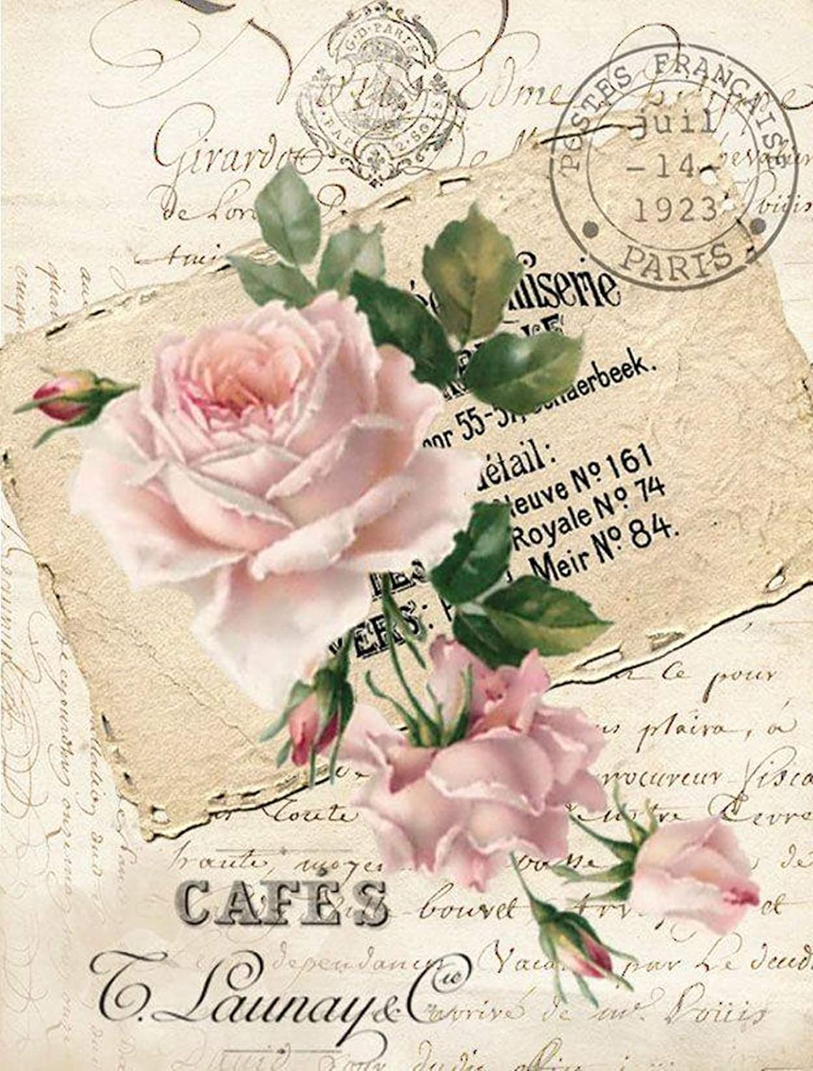 Paper for decoupage Vintage Style Total 3 Sheets A4 // 20x25 cm
