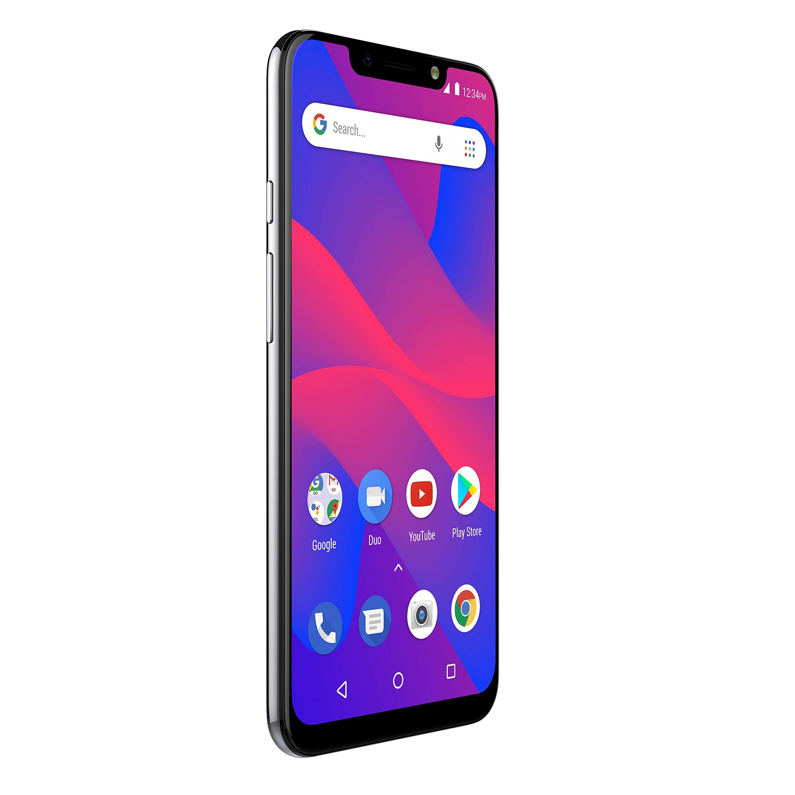 "BLU R2 Plus 2019-6.2"" HD+ Display Smartphone, 16GB+2GB RAM –Silver"