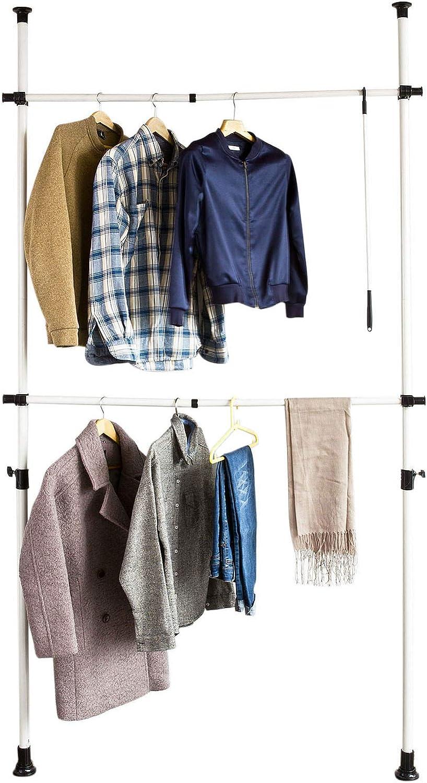 SoBuy FRG109 Telescopic Wardrobe Clothes Storage Shelving System