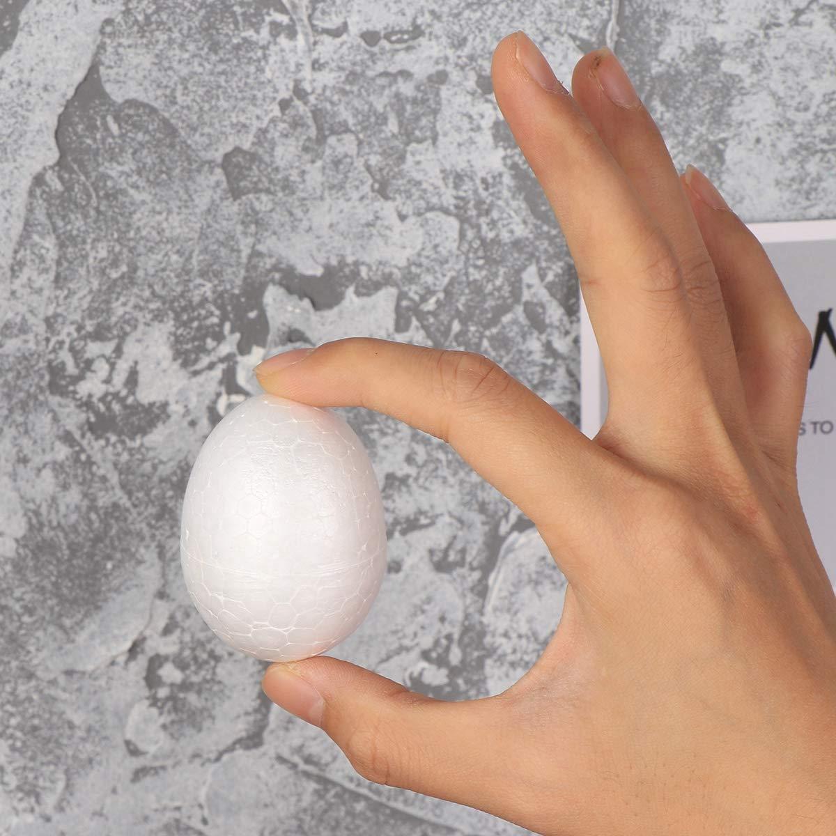 Amosfun Pintura de la espuma del huevo DIY decoraci/ón de espuma de poliestireno de Pascua para ni/ños Festival Artesan/ía regalo de Pascua PASCUA decoraci/ón del partido 20pcs 6 cm