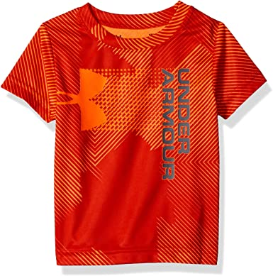 Under Armour Boys Big Logo Hybrid Triblend Short Sleeve Tee