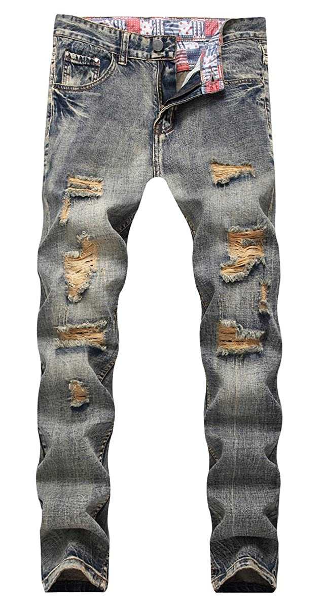 QZH.DUAO Mens Ripped Distressed Jeans