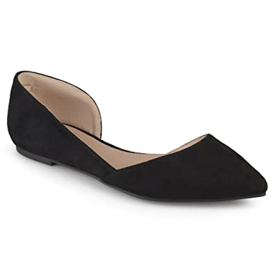 72f02a08a21c Journee Collection Womens Faux Suede D Orsay Flats Black