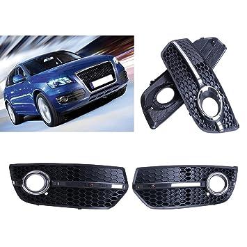 Sengear Rejilla de Nido de abeja negro luz antiniebla delantera lámpara cubre un buen ajuste para Audi Q5 2009 - 11: Amazon.es: Coche y moto