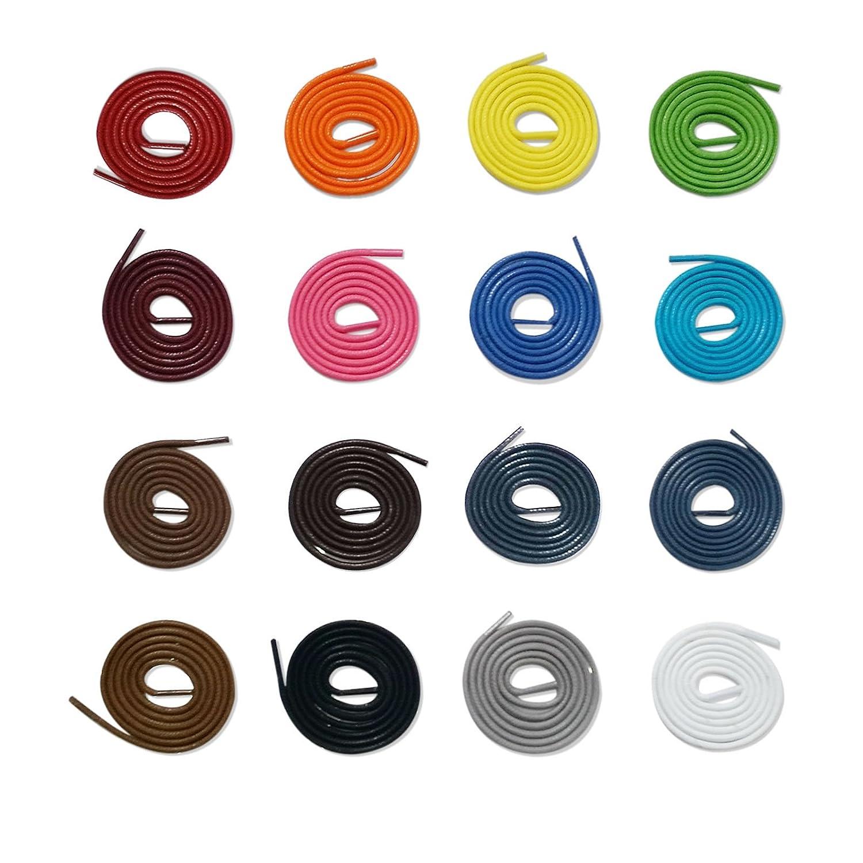 1 Paar gewachste Schnürsenkel 3 oder 4 mm, 100% Baumwolle, waxed laces (3mm 75cm, apfelgrün) apfelgrün) Hergestellt für schuhband24