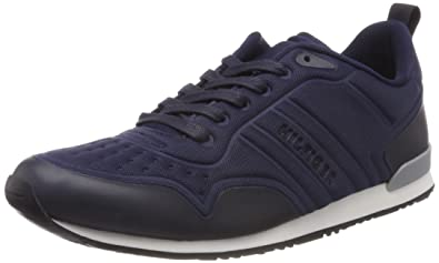 Mens Iconic Neoprene Runner Low-Top Sneakers, Midnight Tommy Hilfiger