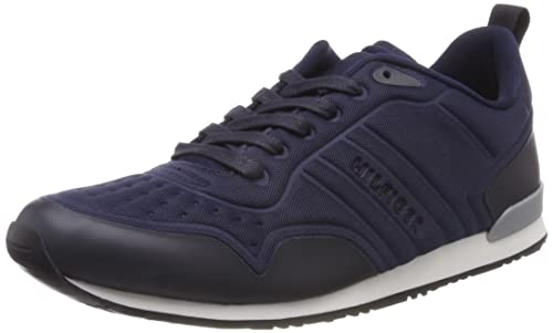 0e2f78250 Tommy Hilfiger Men s Iconic Neoprene Runner Lace Up Trainer Midnight  -Midnight-7