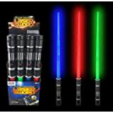 Liberty Imports [VALUE BUNDLE] 12 Pack LED Laser Swords Expandable LED Light Up Sabers with FX Sound Effects (Bulk)