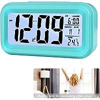Reloj de Alarma Digital, LCD Pantalla Reloj Alarma Inteligente y con Pantalla de Fecha y Temperatura Función Despertador…