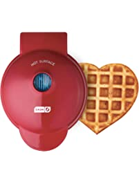 Dash DMW001HR Mini Maker Machine for for Heart Shaped Individual Waffles, Paninis, Hash browns, other on the & other on...