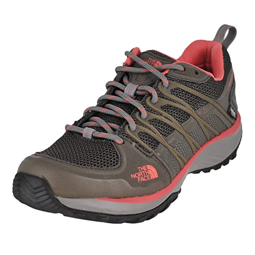 Fashionable Style Womens Sneakers The North Face Litewave Explore Wp Dark Gull Grey Spiced Coral