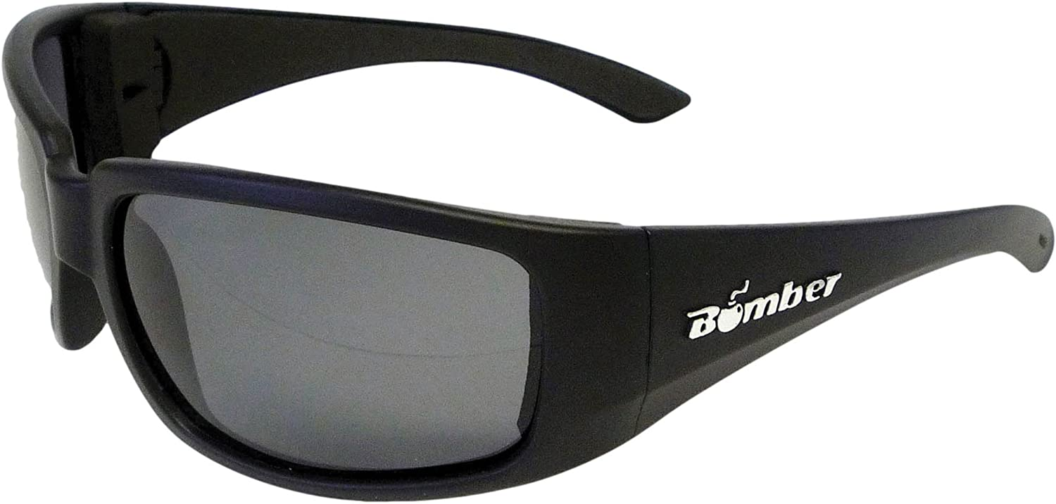Bomber Eyewear Floating Sunglasses STINK Bomb Matte Black Smoke Grey Lens ST103