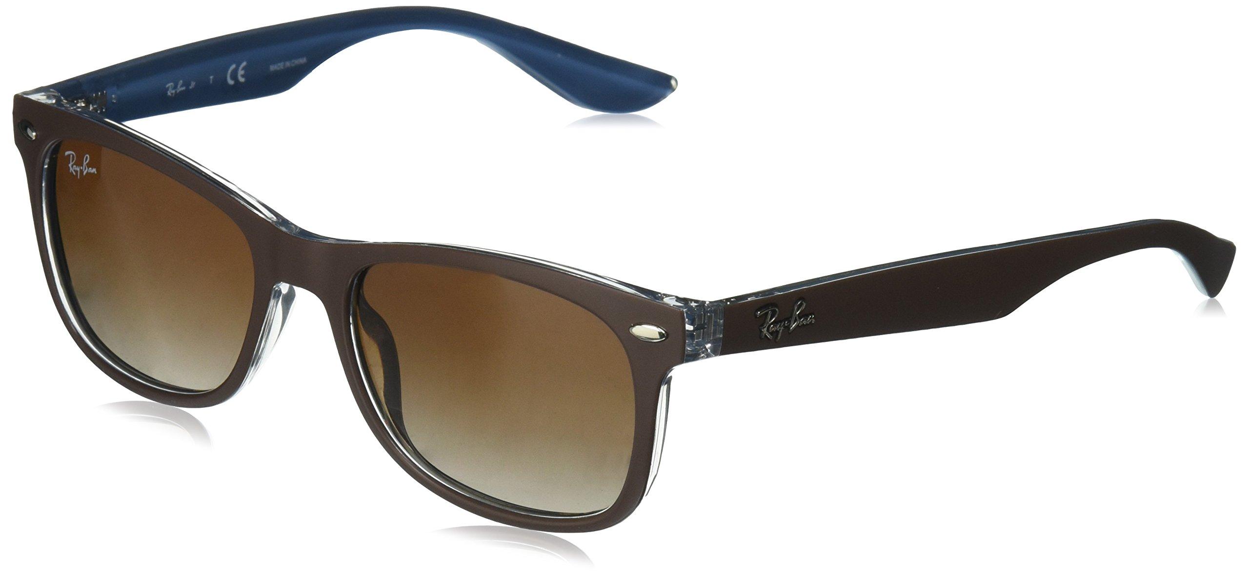 Ray-Ban Kids' RJ9052S 703513 Sunglasses, Top Matte Brown on Blue, 48mm