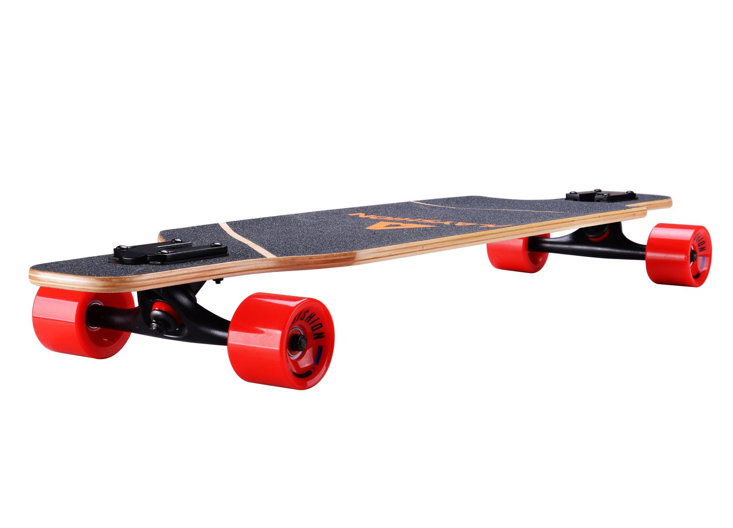 Playshion 39 Inch Drop Through Freestyle Longboard Skateboard Cruiser by Playshion (Image #4)