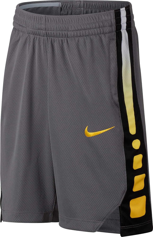Nike B Nk Dry Short Elite Stripe Pantalón Corto de Baloncesto, Niños Niños 850877