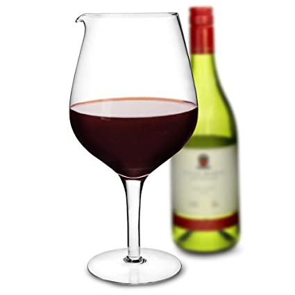 Decantador de cristal para vino, grande (1,9 L)