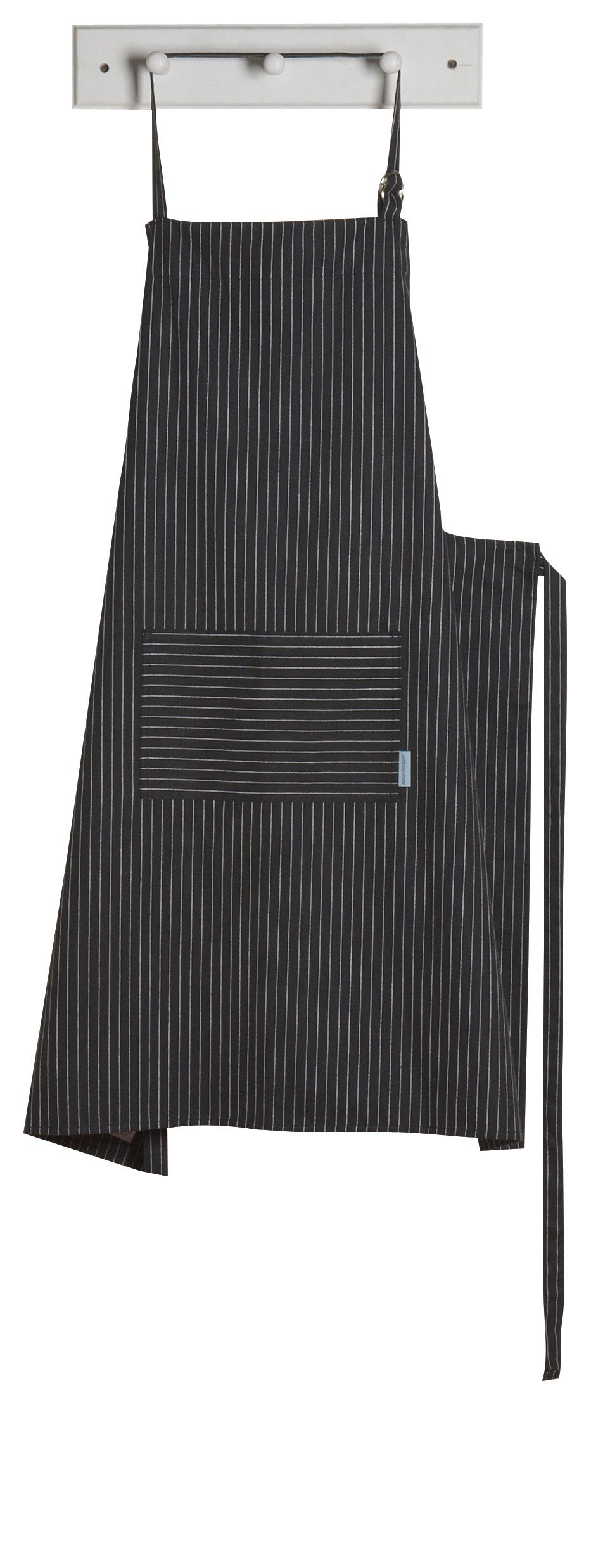 Now Designs Oversized Apron, Pinstripe Black by Now Designs