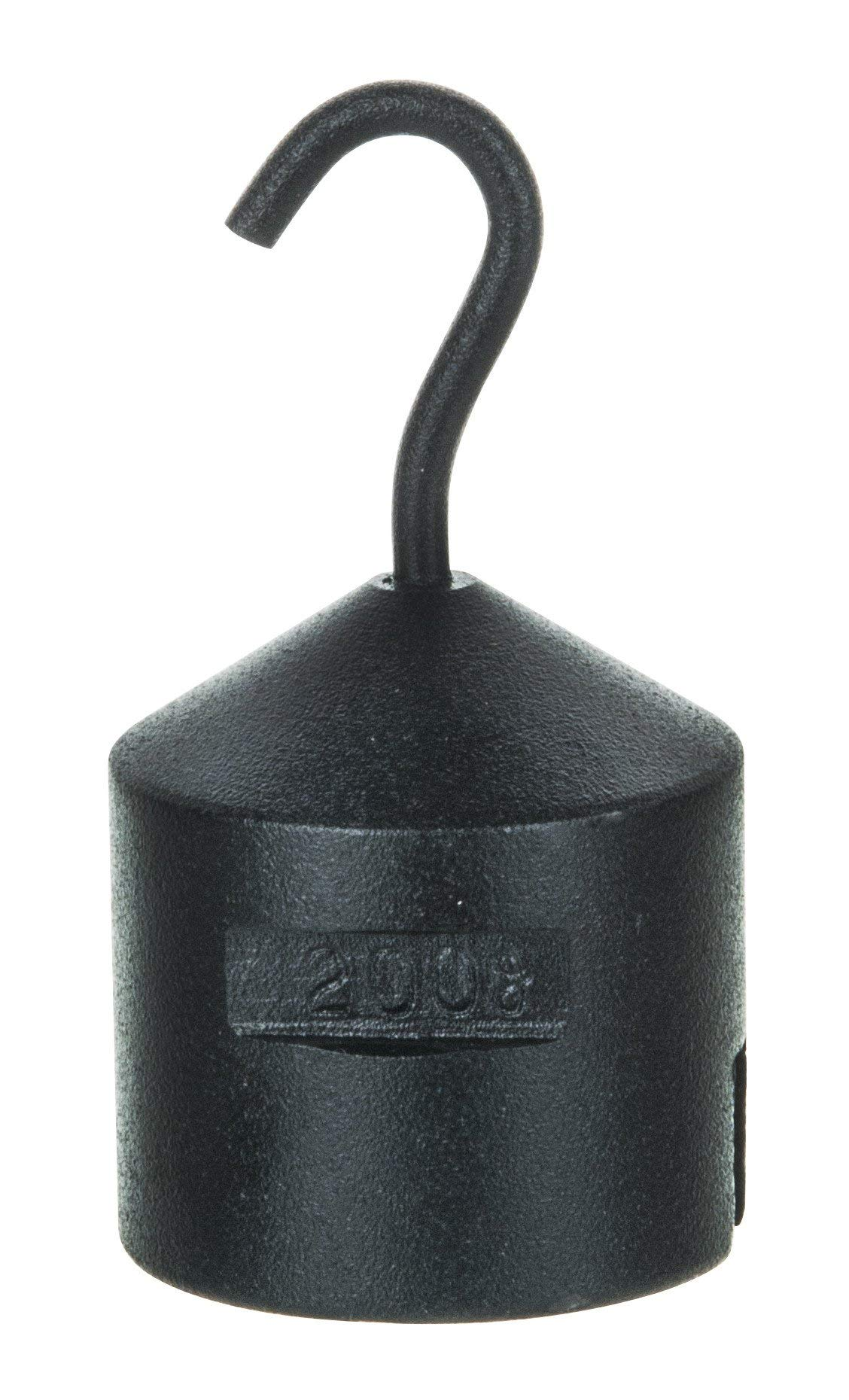 Hooked Iron Weight, 200g - with Bottom Slot - Cast Iron - Eisco Labs by EISCO