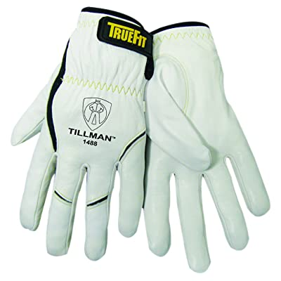 John Tillman 1488 M True Fit Medium Top Grain Kevlar/Goatskin Super Premium Grade TIG Welders' Glove with Elastic Cuff, V Design Thumb/Hook/Loop Closure, English, 15.34 Fl. Oz, Plastic, 1 x 12 x 5, Model:1488 M - MEDIUM - Wel