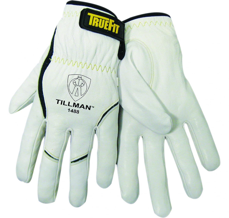 Tillman Medium 11 Pearl And Black Top Grain Goatskin And Dupont Kevlar Unlined Truefit Tig Welders Gloves With Short Cuff And Kevlar Thread Locking Stitch Bulk Welding Safety Gloves Amazon Com Industrial