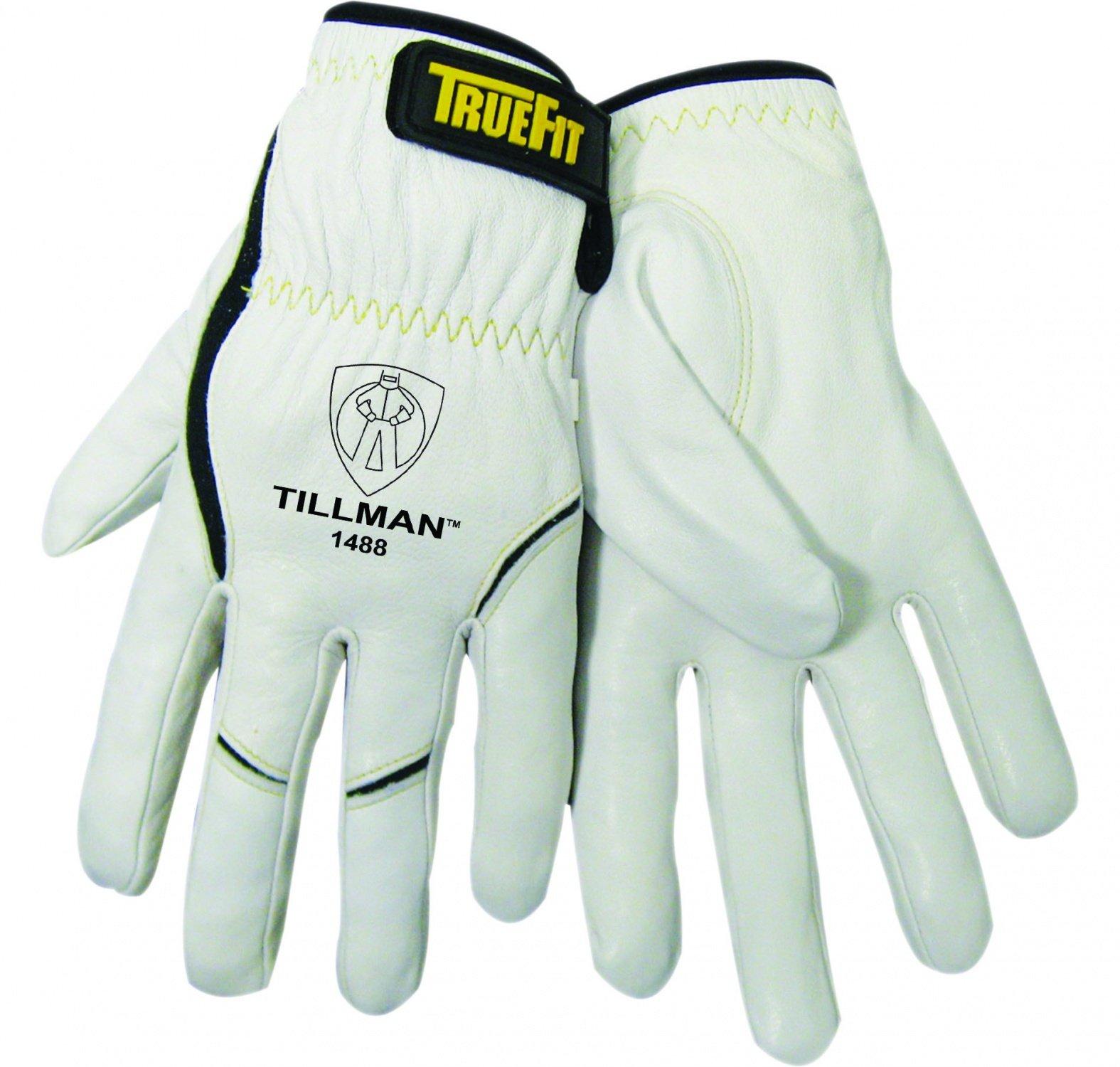 John Tillman 1488 L True Fit Large Top Grain Kevlar/Goatskin Super Premium Grade TIG Welders' Glove with Elastic Cuff, V Design Thumb/Hook/Loop Closure, English, 15.34 fl. oz, Plastic, 1 x 7.5 x 5 by John Tillman