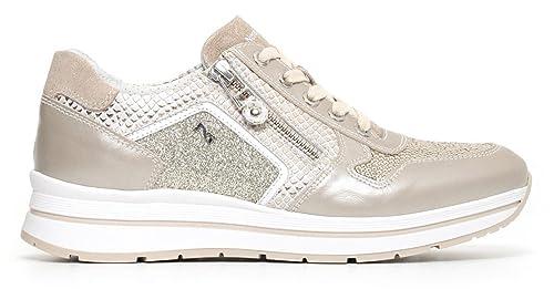 Scarpe sportive Nero Giardini P805244D 505 5244 sneaker in pelle savana