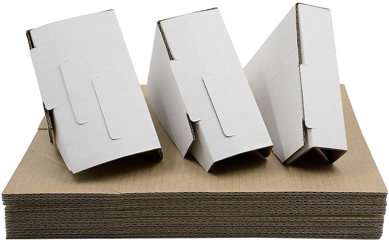 Golden State Art, Adjustable Cardboard Corner Protector for Picture Frame, Shipping, Packing or Moving Art - 3 Size Depths (Pack of 48)
