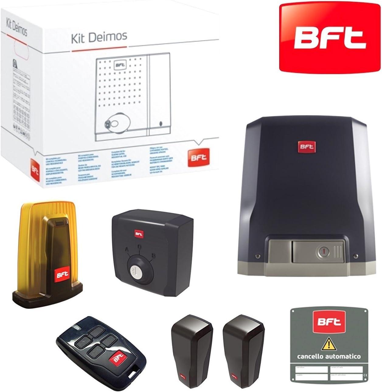 BFT Kit de puerta corredera automática Deimos Motor A600 24V 600 Killogram Residencial Uso residencial R92527000002: Amazon.es: Bricolaje y herramientas