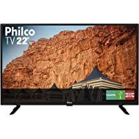 TV LED 22'' Philco PTV22G50D Full HD 2 HDMI 1 USB Preta