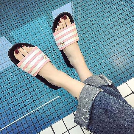 Zapatillas de casa para uso interior sin cordones, sandalias antideslizantes para duchas, zapatos de agua para piscina, suelas de espuma gruesa, zapatillas sin cordones, verde oscuro_43-44: Amazon.es: Deportes y aire libre