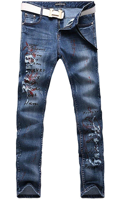 Super frist Skinny Jeans for Men Stretch Slim Fit Jean Comfy Skinny Denim Jeans Work Pants