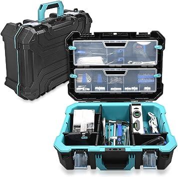 Navaris caja de herramientas de plástico - Organizador de ...