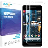 Google Pixel 2 Screen Protector, [2-Pack] PLESON [Case Friendly] Pixel 2 Screen Protector [Full Coverage][No Lifted Edges] Wet Applied HD Clear film Screen Protector for Pixel 2 2017