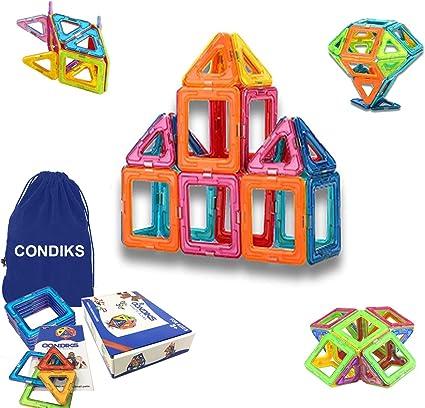Amazon.com: Condiks Bloques magnéticos, 32 bloques de ...