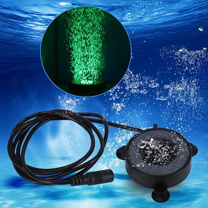 Providethebest Mini Pescados coloridos bajo el agua del tanque de la lámpara LED de burbujas de aire acuario sumergible Decoración casera ligera 100-240V: ...