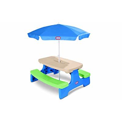 Little Tikes Easy Store Picnic Table with Umbrella: Toys & Games