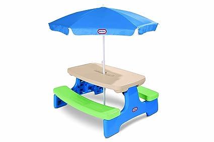 Amazon little tikes easy store picnic table with umbrella toys little tikes easy store picnic table with umbrella watchthetrailerfo