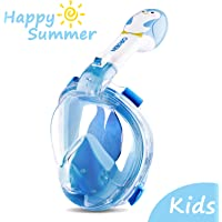Orsen Newest Version Full Face Snorkel Mask Foldable 180 Panoramic View Free Breathing Snorkel Set with Detachable Camera Mount, Dry Top Set Anti-fog Anti-leak for Adults & Kids